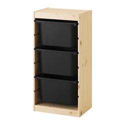 TROFAST - 貯物組合連物盒, 淺色染白松木/黑色 | IKEA 香港及澳門 - PE547492_S3