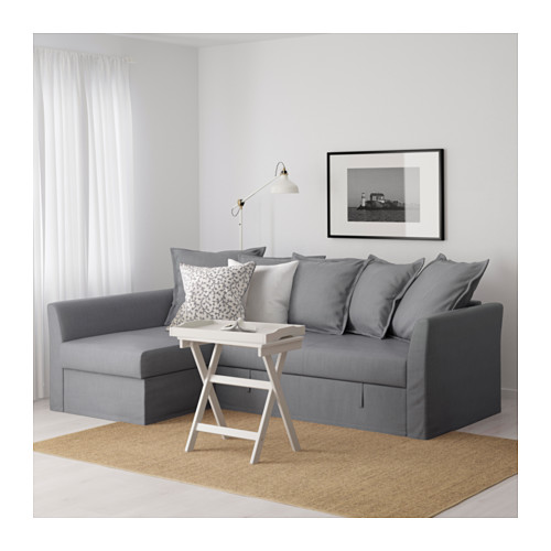 HOLMSUND - corner sofa-bed with storage, nordvalla medium grey   IKEA Hong Kong and Macau - PE600302_S4