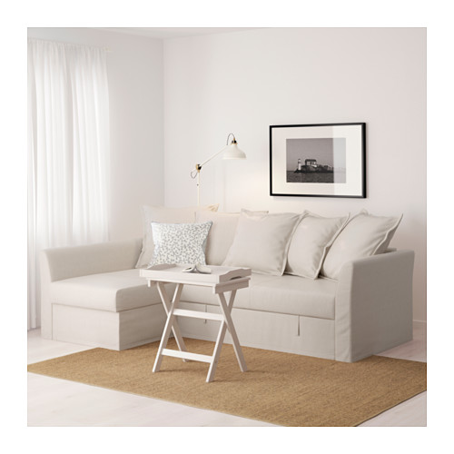 HOLMSUND - 角位梳化床(可貯物), nordvalla 米黃色 | IKEA 香港及澳門 - PE600304_S4