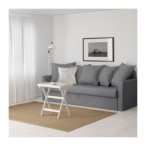 HOLMSUND - three-seat sofa-bed with storage, Nordvalla medium grey | IKEA Hong Kong and Macau - PE600340_S4
