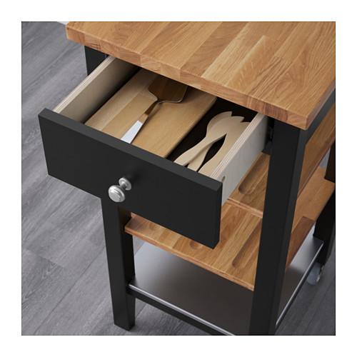 STENSTORP - 廚房活動几, 棕黑色/橡木   IKEA 香港及澳門 - PE600441_S4