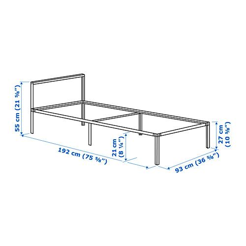 GRIMSBU bed frame, LURÖY, single