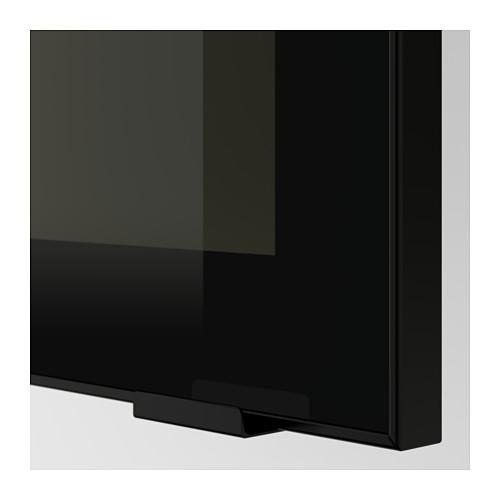 JUTIS - glass door, smoked glass/black | IKEA Hong Kong and Macau - PE600580_S4