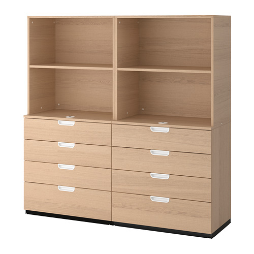 GALANT - storage combination with drawers, white stained oak veneer | IKEA Hong Kong and Macau - PE706954_S4