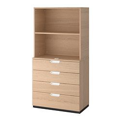 GALANT - 貯物組合連抽屜, 染白橡木飾面 | IKEA 香港及澳門 - PE706959_S3