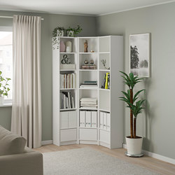 BILLY - bookcase combination/crnr solution, white | IKEA Hong Kong and Macau - PE801269_S3