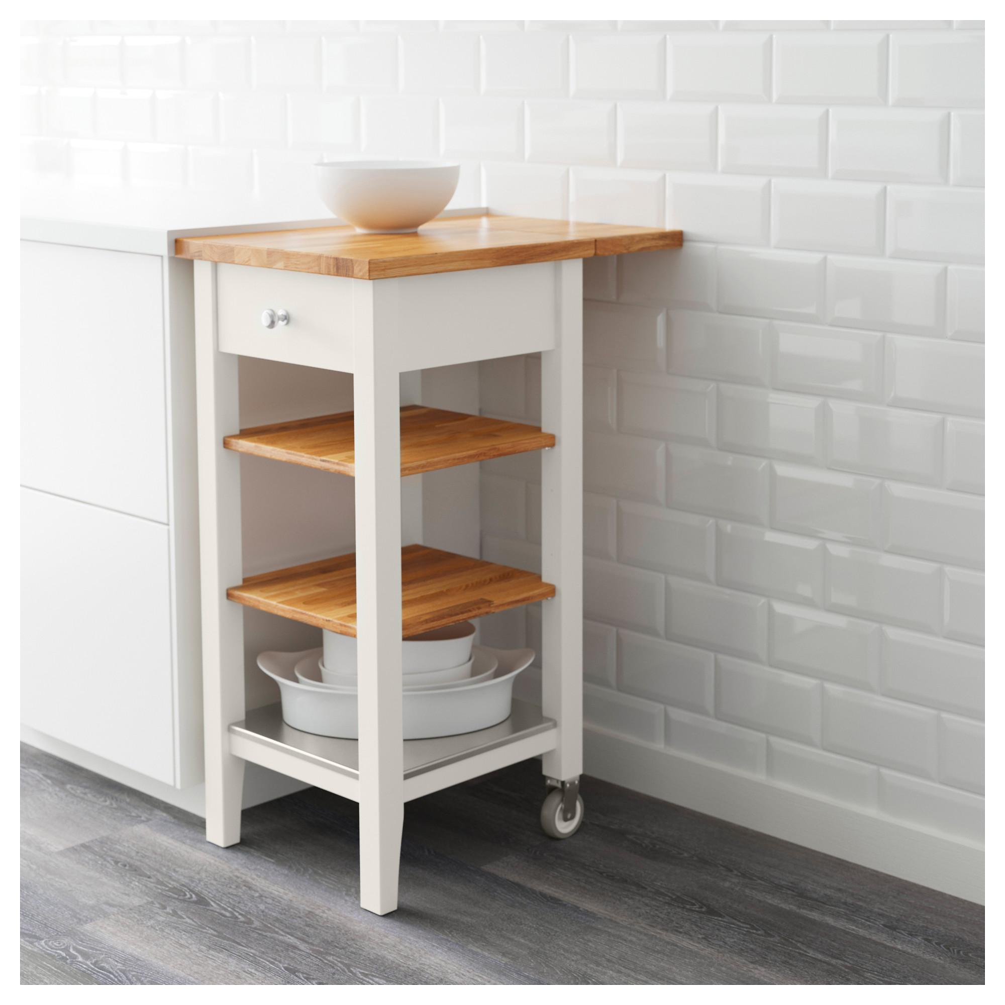 STENSTORP - kitchen trolley, white/oak | IKEA Hong Kong