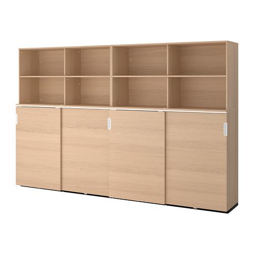GALANT - 貯物組合連趟門, 染白橡木飾面 | IKEA 香港及澳門 - PE706974_S4