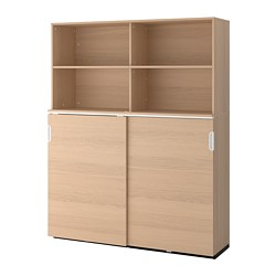 GALANT - 貯物組合連趟門, 染白橡木飾面 | IKEA 香港及澳門 - PE706977_S3
