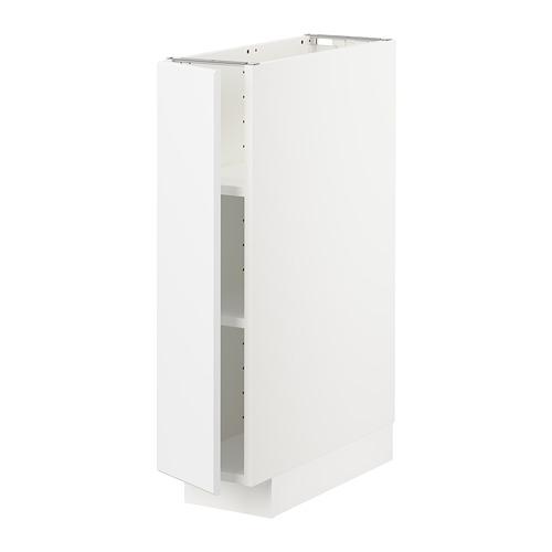 METOD - base cabinet with shelves, white/Kungsbacka matt white | IKEA Hong Kong and Macau - PE707011_S4