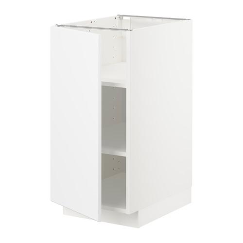 METOD - base cabinet with shelves, white/Kungsbacka matt white | IKEA Hong Kong and Macau - PE707012_S4