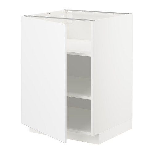 METOD base cabinet with shelves