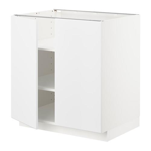 METOD - base cabinet with shelves/2 doors, white/Kungsbacka matt white | IKEA Hong Kong and Macau - PE707014_S4