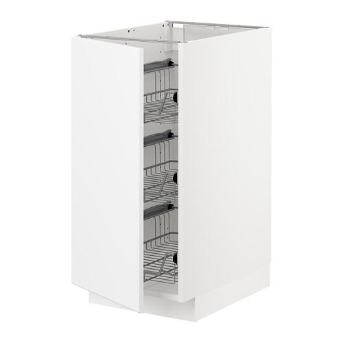METOD - base cabinet with wire baskets, white/Kungsbacka matt white   IKEA Hong Kong and Macau - PE707015_S4