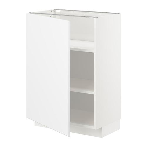 METOD - base cabinet with shelves, white/Kungsbacka matt white | IKEA Hong Kong and Macau - PE707018_S4