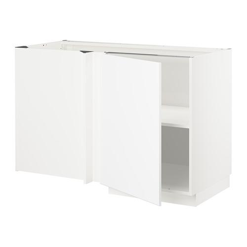METOD - corner base cabinet with shelf, white/Kungsbacka matt white | IKEA Hong Kong and Macau - PE707026_S4