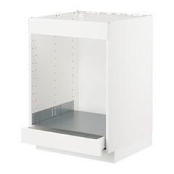 METOD/MAXIMERA - 爐具及焗爐用地櫃連抽屜, white/Kungsbacka matt white | IKEA 香港及澳門 - PE707036_S3