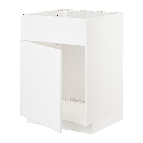 METOD base cabinet f sink w door/front