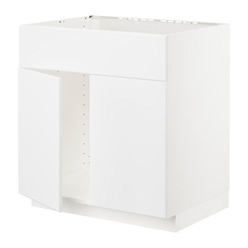 METOD - 星盆用地櫃連一對門/面板, white/Kungsbacka matt white | IKEA 香港及澳門 - PE707040_S4