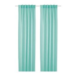 HILJA - curtains, 1 pair, turquoise   IKEA Hong Kong and Macau - PE747091_S3