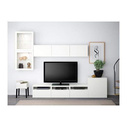 BESTÅ - TV storage combination/glass doors, Lappviken/Sindvik white clear glass | IKEA Hong Kong and Macau - PE538225_S4