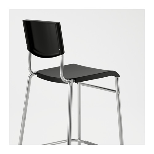 STIG bar stool with backrest