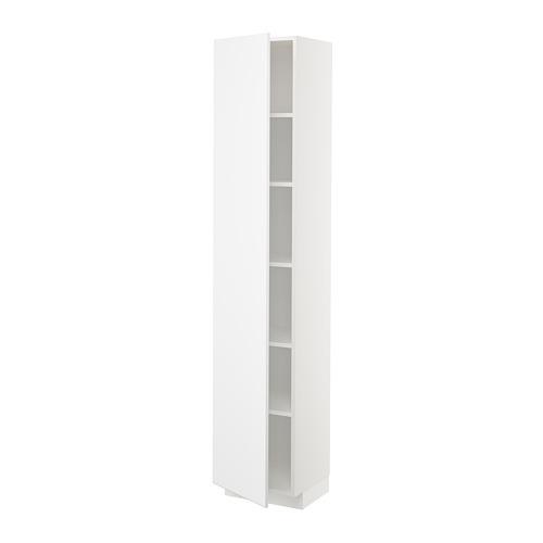 METOD - high cabinet with shelves, white/Kungsbacka matt white | IKEA 香港及澳門 - PE707070_S4