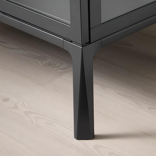 MILSBO - 玻璃門貯物櫃, 炭黑色 | IKEA 香港及澳門 - PE704498_S4