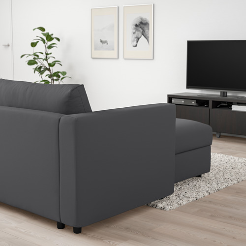 VIMLE - 3-seat sofa with chaise longue, Hallarp grey | IKEA Hong Kong and Macau - PE801332_S4