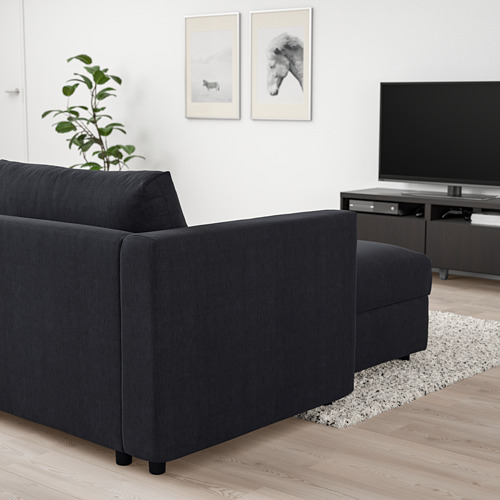 VIMLE - chaise longue, Saxemara black-blue | IKEA Hong Kong and Macau - PE801352_S4