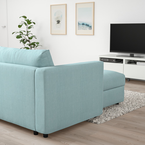 VIMLE - chaise longue, Saxemara light blue | IKEA Hong Kong and Macau - PE801339_S4