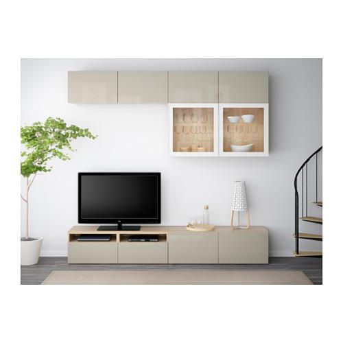 BESTÅ 電視貯物組合/玻璃門