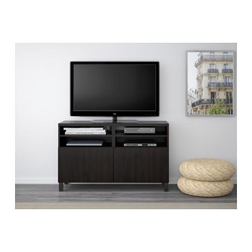 BESTÅ - TV bench with doors, Lappviken black-brown | IKEA Hong Kong and Macau - PE538087_S4