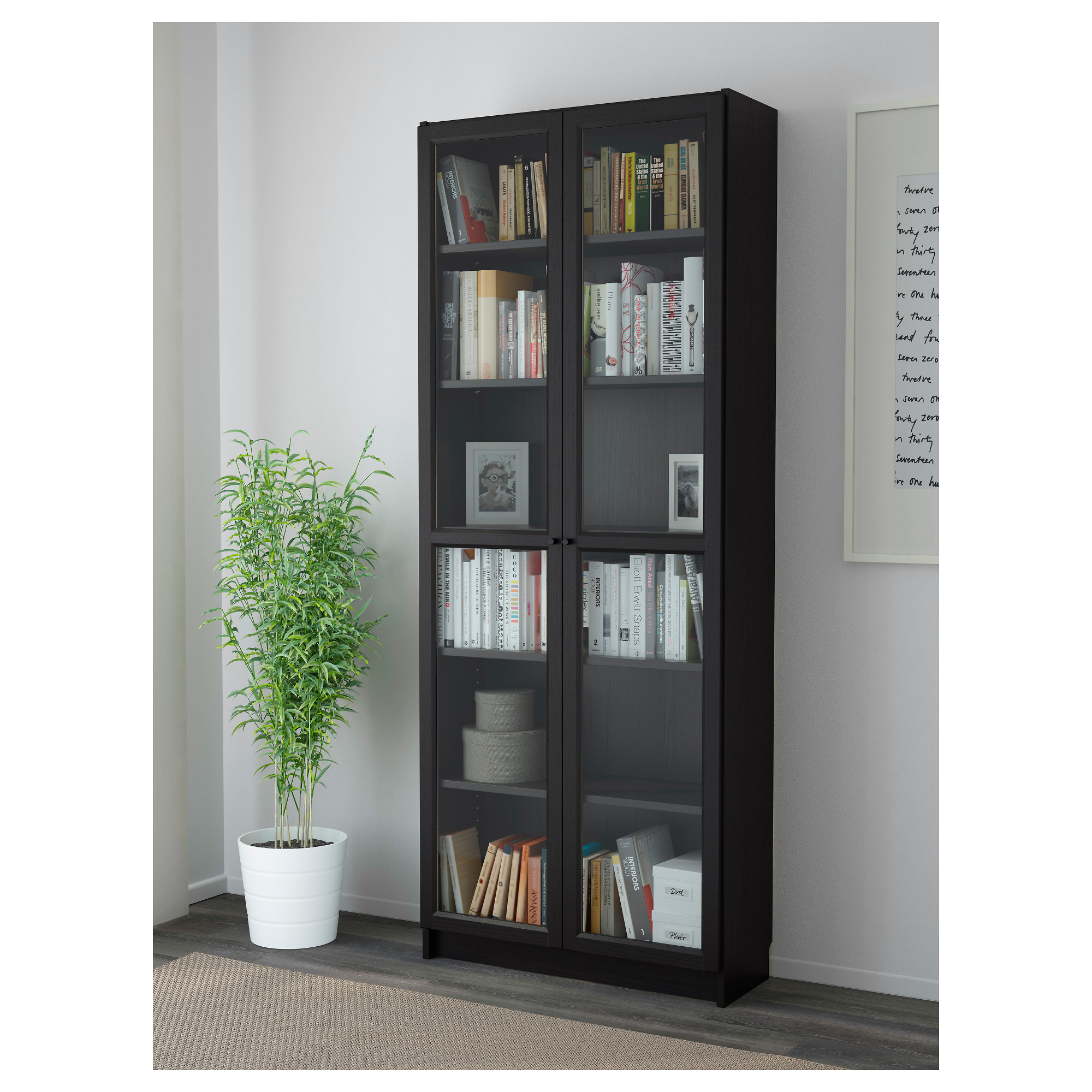 Billy Oxberg Bookcase Black Brown Ikea Hong Kong