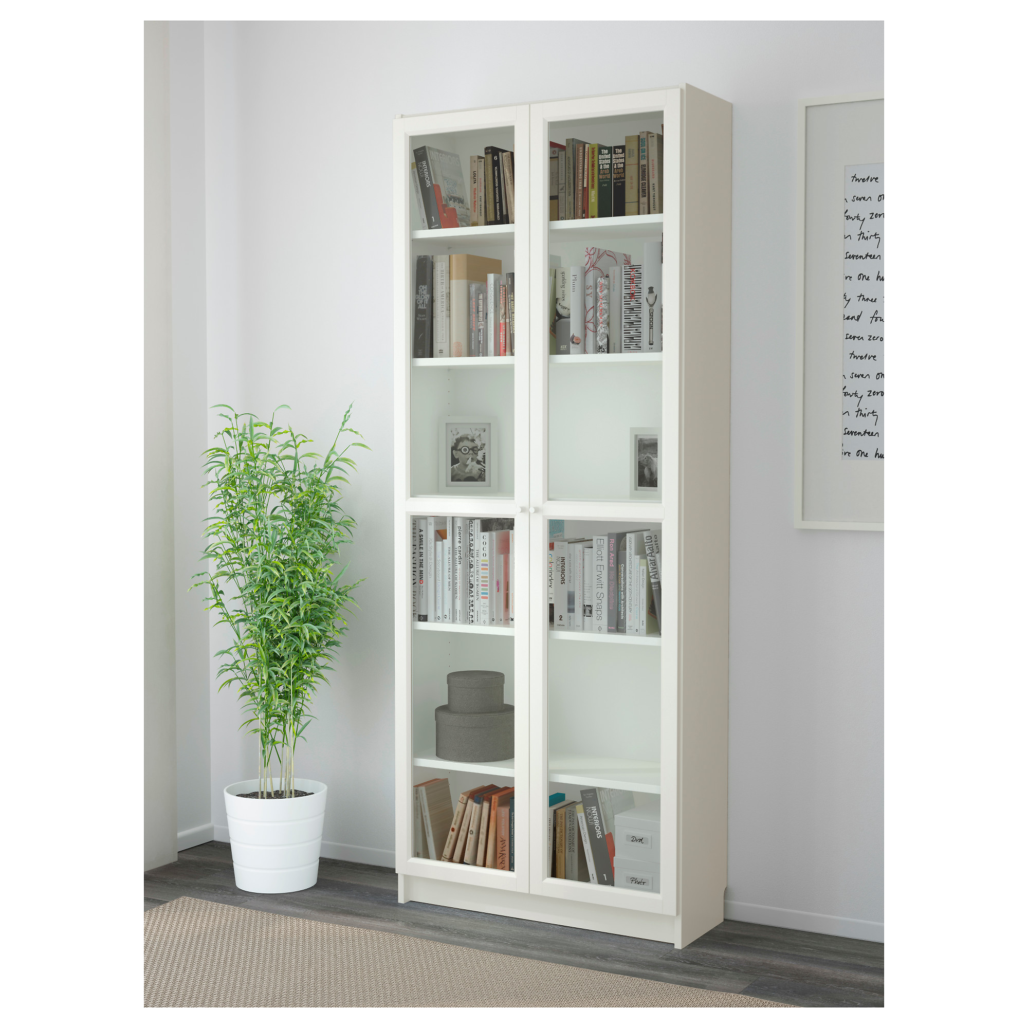 Billy Oxberg Bookcase White Ikea Hong Kong