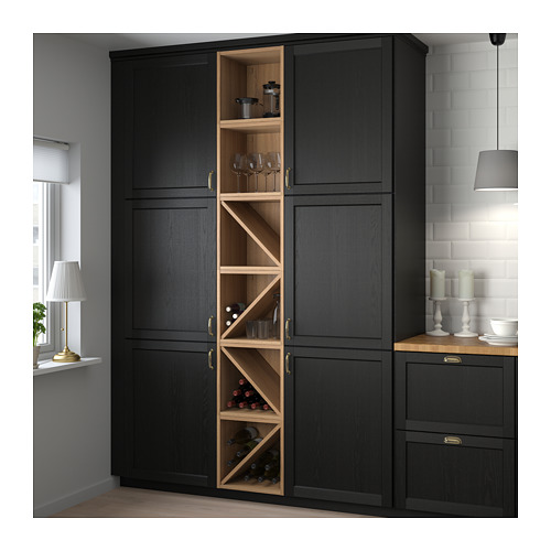 VADHOLMA - wine shelf, brown/stained ash | IKEA Hong Kong and Macau - PE658788_S4