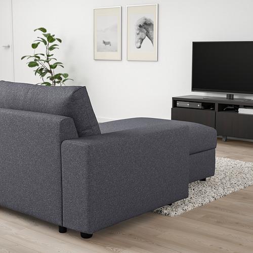 VIMLE - 三座位梳化連躺椅, with wide armrests Gunnared/medium grey | IKEA 香港及澳門 - PE801383_S4