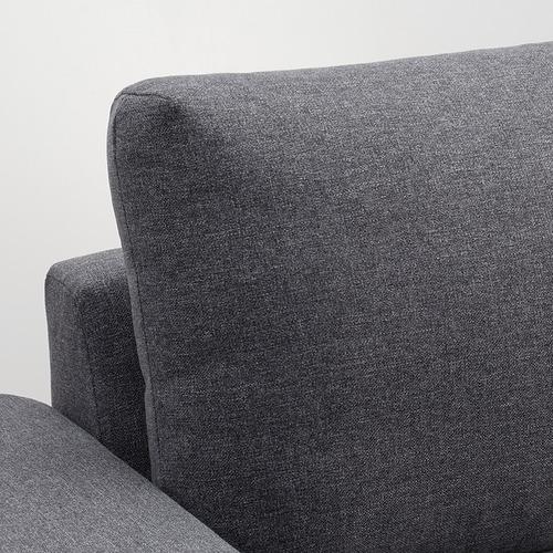 VIMLE - 三座位梳化床, 有寬闊扶手/Gunnared 暗灰色 | IKEA 香港及澳門 - PE801385_S4