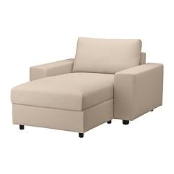 VIMLE - chaise longue, with wide armrests/Hallarp beige   IKEA Hong Kong and Macau - PE801386_S3