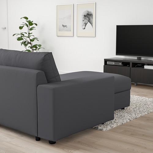VIMLE - 3-seat sofa with chaise longue, with wide armrests/Hallarp grey | IKEA Hong Kong and Macau - PE801375_S4