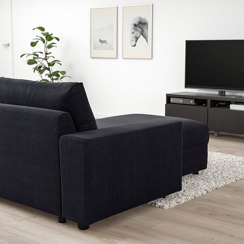 VIMLE - 三座位梳化連躺椅, with wide armrests Saxemara/black-blue | IKEA 香港及澳門 - PE801369_S4