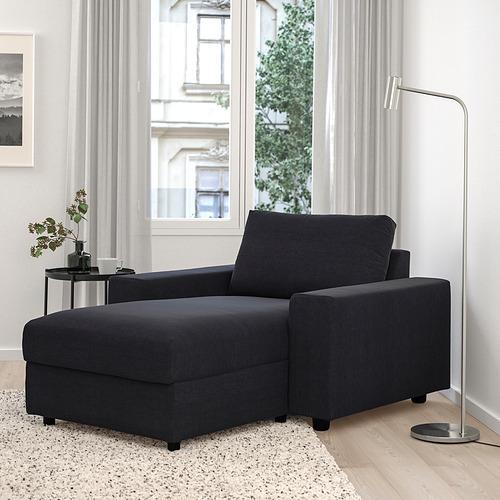 VIMLE - 躺椅, 有寬闊扶手/Saxemara 藍黑色 | IKEA 香港及澳門 - PE801391_S4