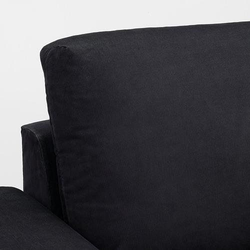 VIMLE - 三座位梳化連躺椅, with wide armrests Saxemara/black-blue | IKEA 香港及澳門 - PE801370_S4