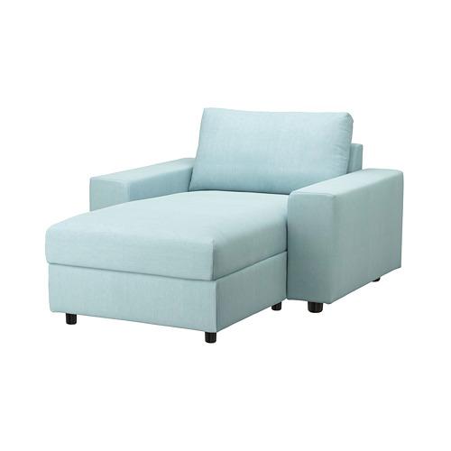 VIMLE - 躺椅套, 有寬闊扶手/Saxemara 淺藍色 | IKEA 香港及澳門 - PE801393_S4