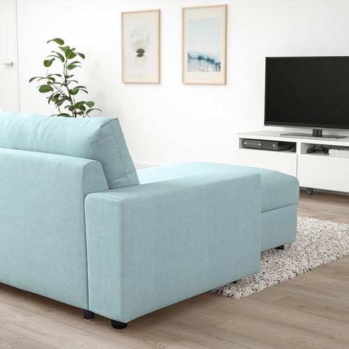 VIMLE - 3-seat sofa with chaise longue, with wide armrests Saxemara/light blue | IKEA Hong Kong and Macau - PE801366_S4