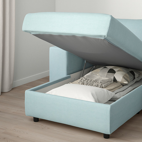 VIMLE - 3-seat sofa with chaise longue, with wide armrests Saxemara/light blue | IKEA Hong Kong and Macau - PE801365_S4