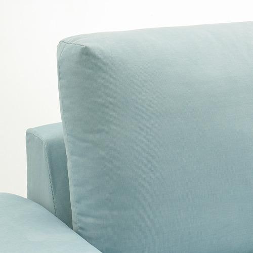 VIMLE - 3-seat sofa with chaise longue, with wide armrests Saxemara/light blue | IKEA Hong Kong and Macau - PE801394_S4