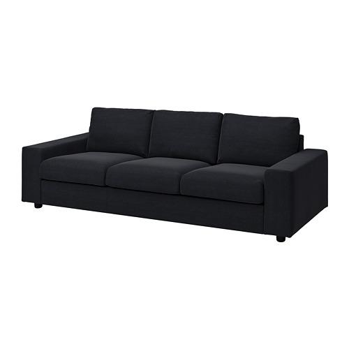 VIMLE - 三座位梳化布套, 有寬闊扶手/Saxemara 藍黑色 | IKEA 香港及澳門 - PE801424_S4