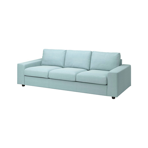 VIMLE - 3-seat sofa, with wide armrests/Saxemara light blue   IKEA Hong Kong and Macau - PE801420_S4