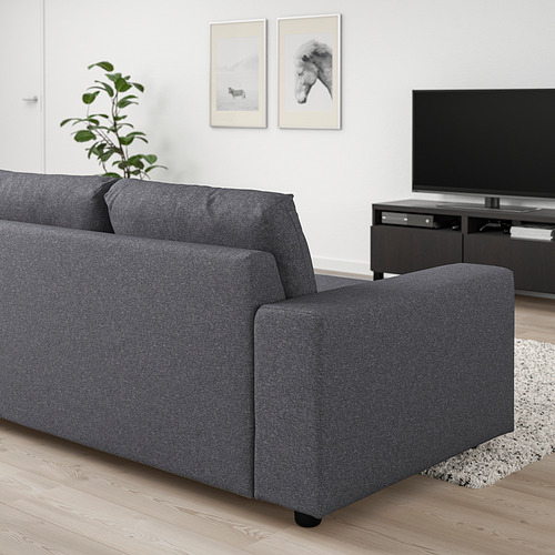 VIMLE - 三座位梳化床, 有寬闊扶手/Gunnared 暗灰色 | IKEA 香港及澳門 - PE801451_S4